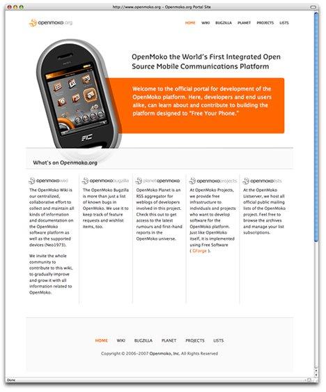 Openmoko手机网页设计