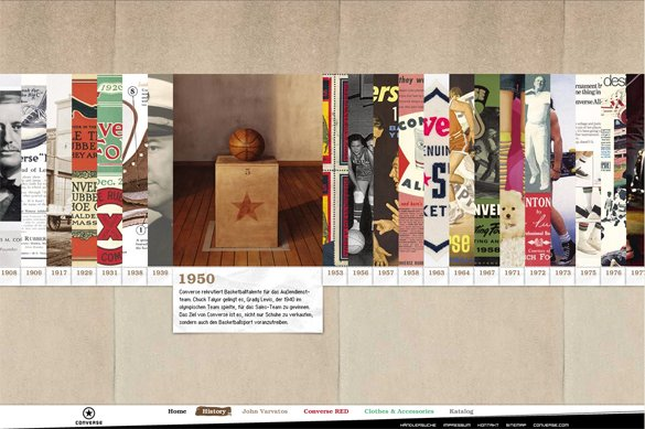 运动品牌Converse(匡威)网站设计欣赏