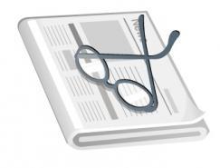 报纸和眼镜矢量素材