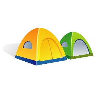 帐篷矢量素材 - 设计之家