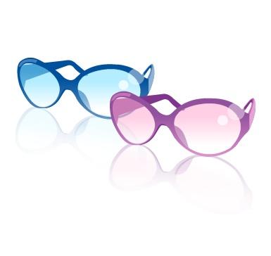 时尚眼镜矢量素材