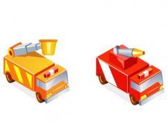 消防车矢量素材