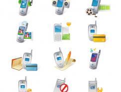 多款手机题材图标矢量素材