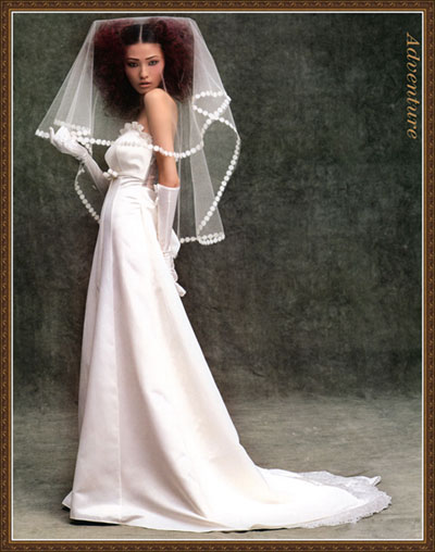 PS简单方法抠婚纱