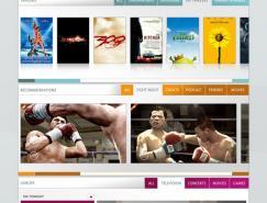 Launch娱乐网站界面设计