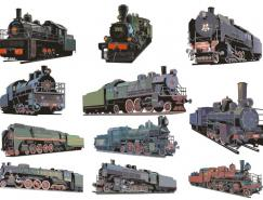 老式蒸汽火车矢量素材