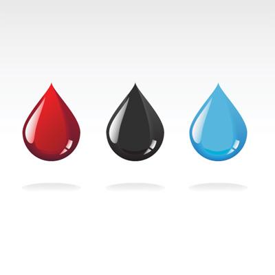 彩色水滴矢量素材