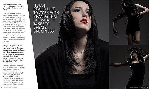 设计师GregWashington时尚杂志版面设计