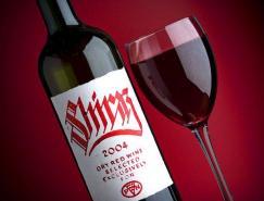 國外優秀紅酒瓶貼標簽設計