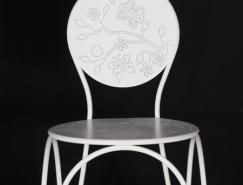 TordBoontje设计的金属镂空花纹椅