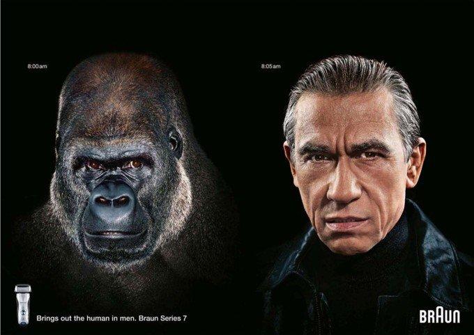 进化:Braun电动剃须刀广告欣赏