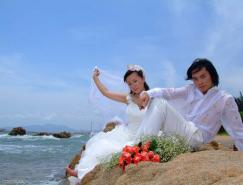 PS調色教程:打造清爽的海景婚紗照