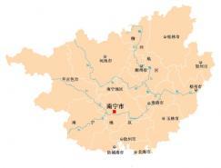广西省地图矢量素材(EPS格式)