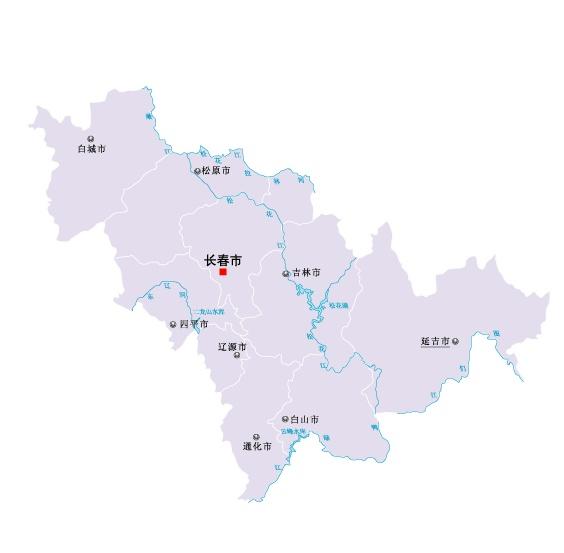 吉林省地图矢量素材(eps格式)