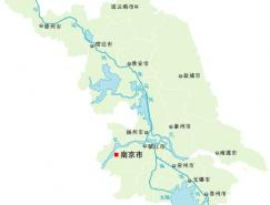 江苏省地图矢量素材(EPS格式)