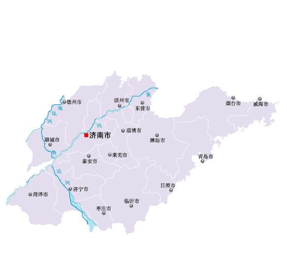 山东省地图矢量素材(eps格式)