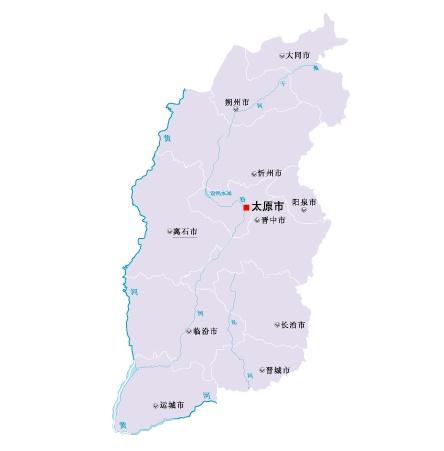 山西省地图矢量素材(eps格式)
