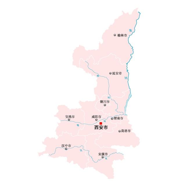 陕西省地图矢量素材(eps格式)