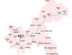 重慶市地圖矢量素材(EPS格式)