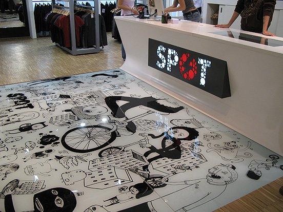 SPOT潮流服装专卖店室内空间设计