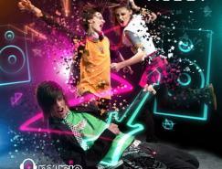 T-music音乐网站海报设计