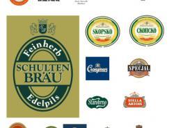 啤酒瓶贴设计矢量素材(5)