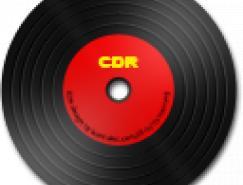 CD-R黑胶盘图标PNG