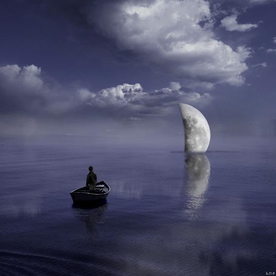 超现实主义天空与大海