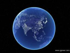 3dsMax制作地球夜景