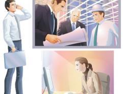 商务办公男女矢量素材(4)