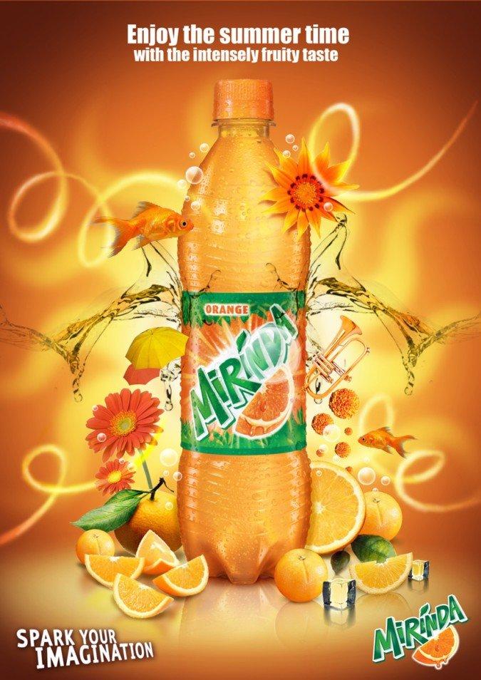 国际资讯_美年达(Mirinda)饮料平面广告欣赏 - 设计之家