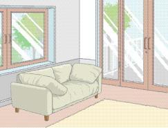 室内装饰矢量图(04)