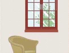 室内装饰矢量图(06)