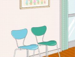 室内装饰矢量图(10)