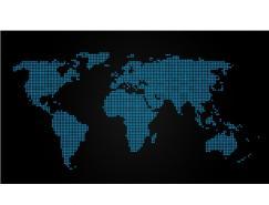 圆点组成的矢量世界地图