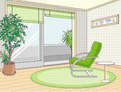 室内装饰矢量图(32)