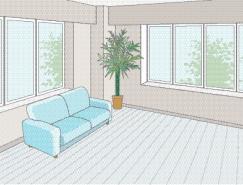客厅室内装饰矢量图(40)