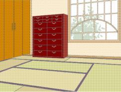 日本风格室内装饰矢量图(64