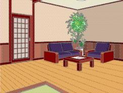 日本風格室內裝飾矢量圖(72)