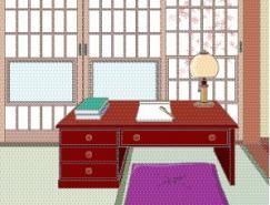 日本風格室內裝飾矢量圖(74)