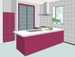 厨房室内装饰矢量图(77)