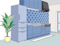 厨房室内装饰矢量图(80)