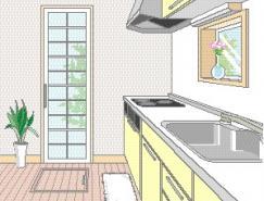 厨房室内装饰矢量图(81)