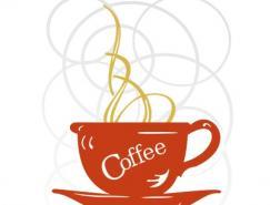 咖啡杯剪影矢量素材