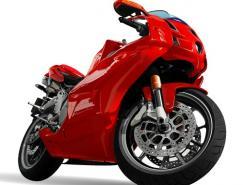逼真的摩托赛车矢量素材