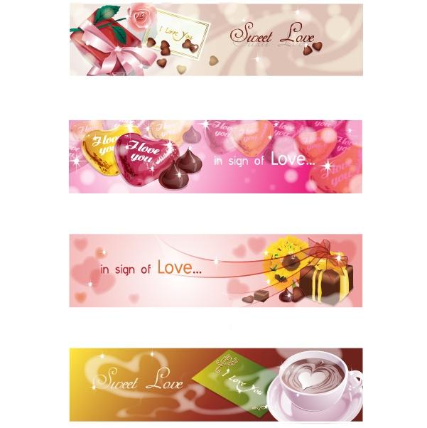 情人节矢量素材,爱心咖啡杯,巧克力,心形底纹,爱心巧克力,玫瑰花,礼盒