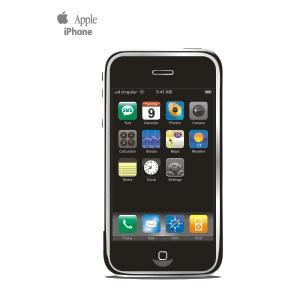 苹果iphone手机矢量素材