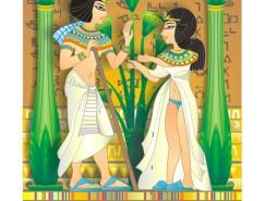 埃及壁畫矢量素材