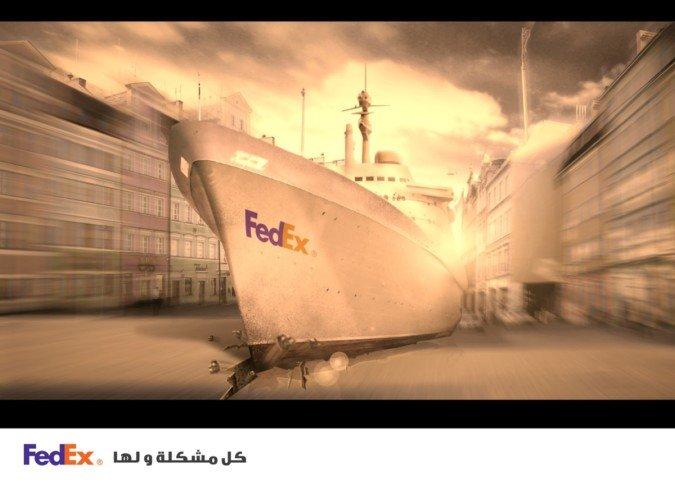 FedEx平面创意广告