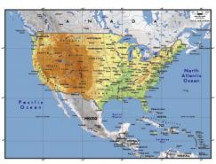美國地圖矢量素材